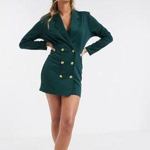 Asos Green Military Long Sleeve Dress 6